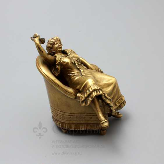 "Antique Vienna bronze figurine ""Lady in chair"", erotic, Europe, early 20th century - photo 6"