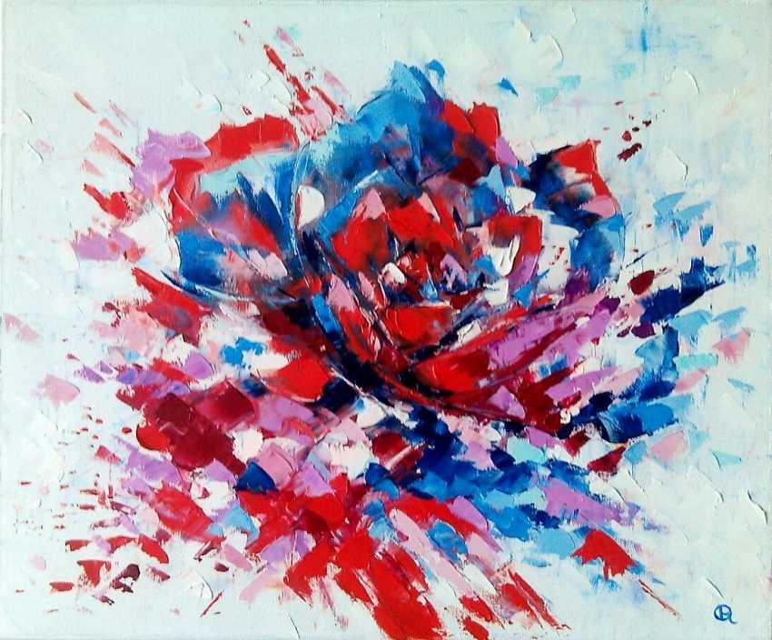 Oleg Ryzhkov Rose Peinture A L Huile Article 12276