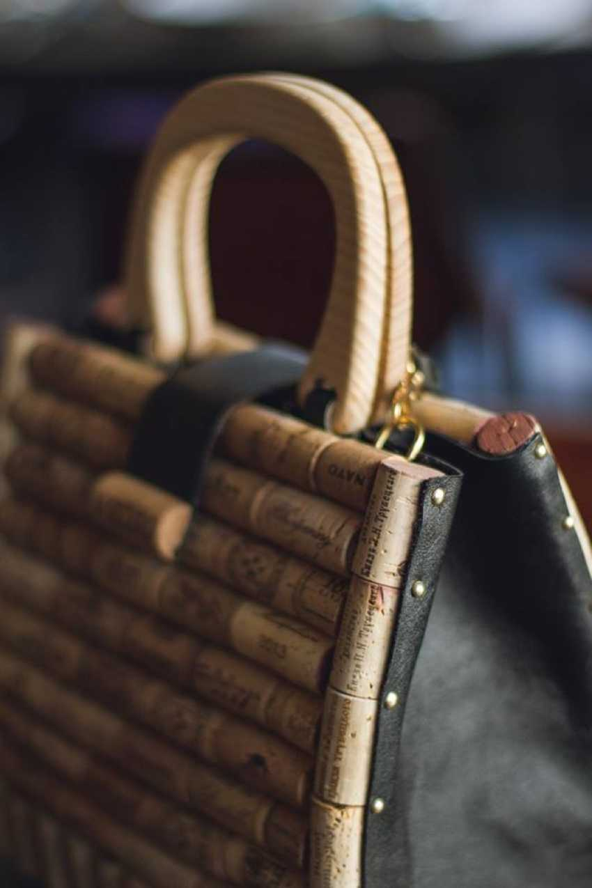 Sergey Tkachuk. A stylish, exclusive bag made of wine cork and handmade leather for every day and any season. - photo 3