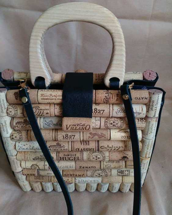 Sergey Tkachuk. A stylish, exclusive bag made of wine cork and handmade leather for every day and any season. - photo 4