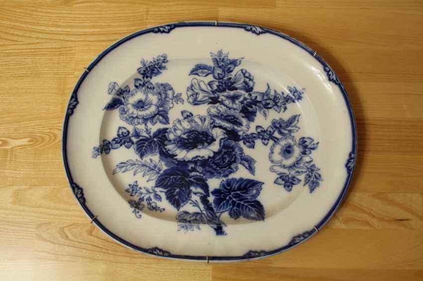 """Oval dish """"Flowers"""" Wedgwood, England, 1812-1822. - photo 1"""