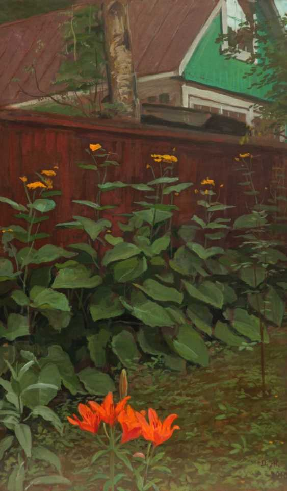 Sergey Karpukhin. DMITRY ZHILINSKY. In the country. Flowers at the fence - photo 1