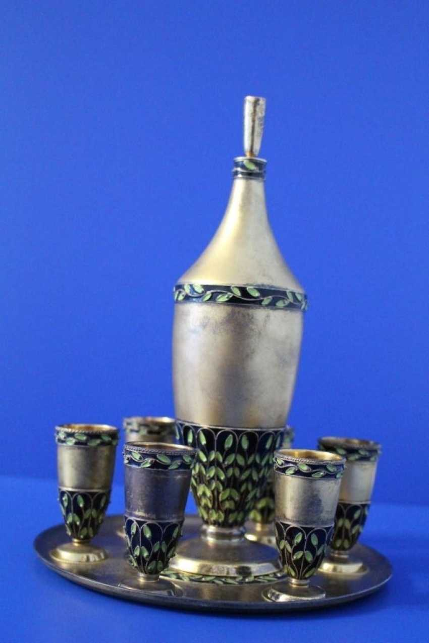 Decanter for vodka, tray and 6 cups - photo 1