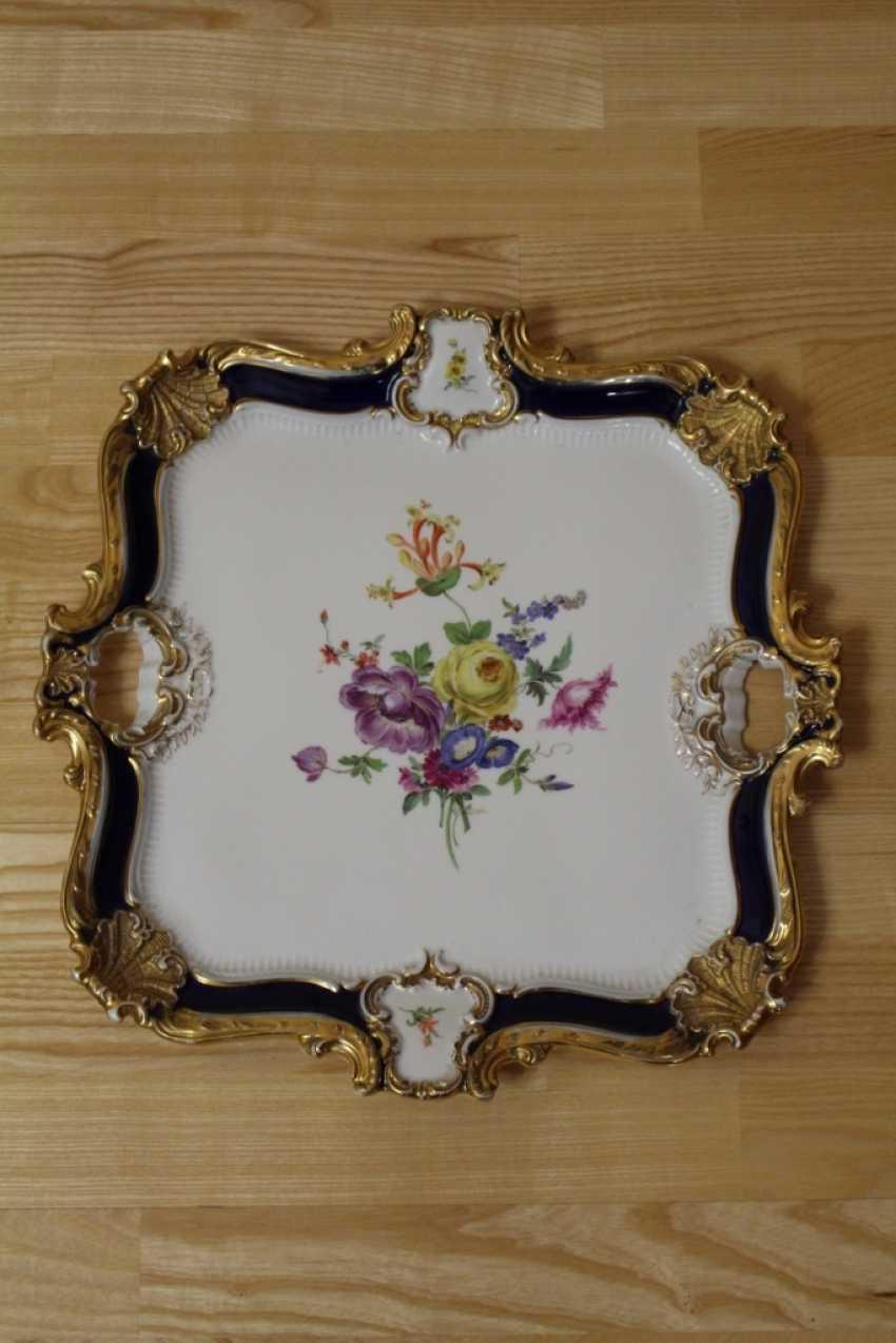Dish square Flowers, Meissen (Meissen) - photo 1