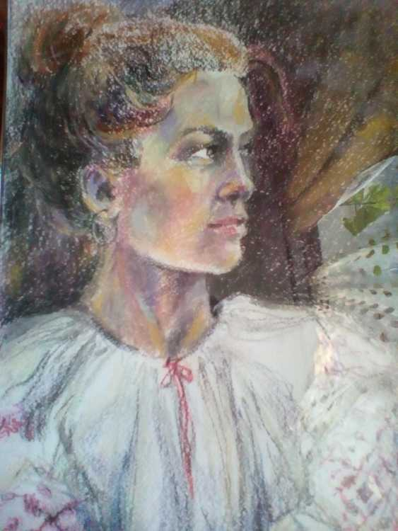 Oksana Khokhlova. Mädchen in weiß - Foto 1