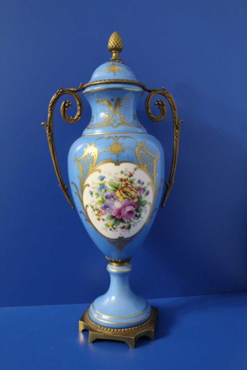 "Pair of vases ""Flowers"", Sevres (sèvres) - photo 3"