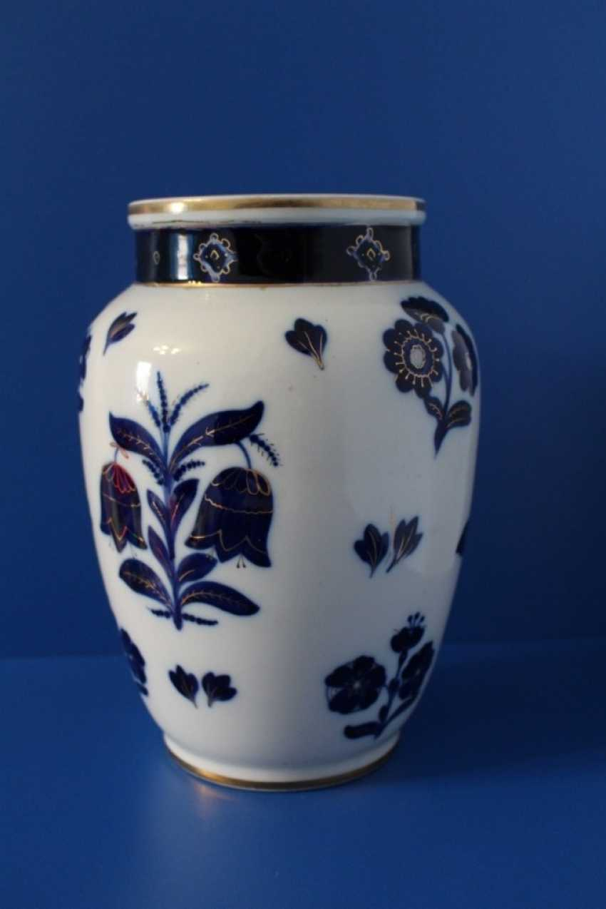 "Vases pair of ""Blue flowers"" (24.5 cm), Lomonosov porcelain factory, 1950-1960 - photo 3"