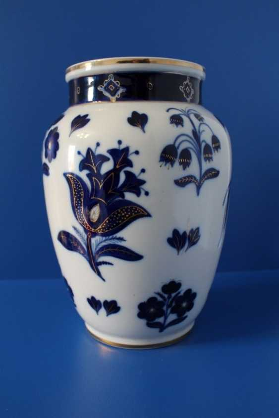 "Vases pair of ""Blue flowers"" (24.5 cm), Lomonosov porcelain factory, 1950-1960 - photo 6"