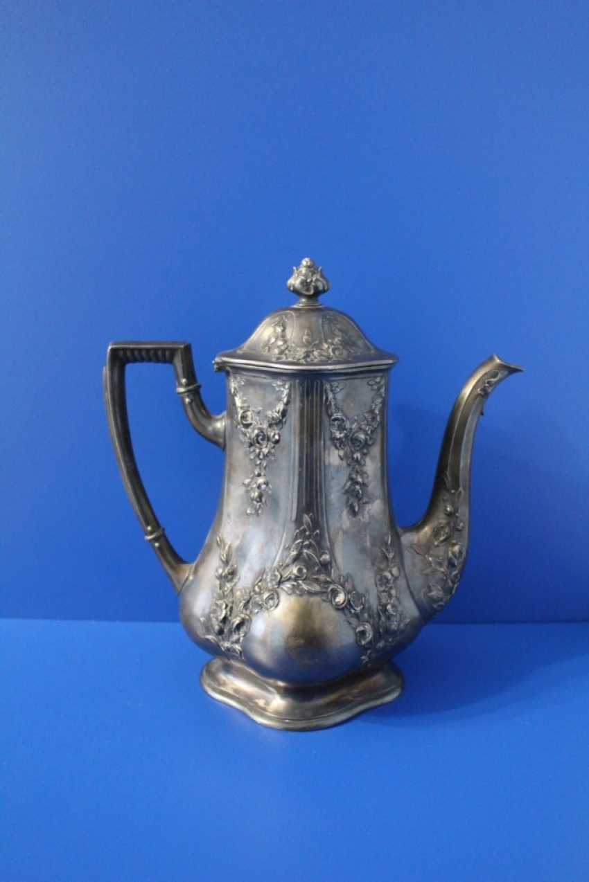 Tea set (teapot, milk jug, tray) Fraget (Traget) - photo 3