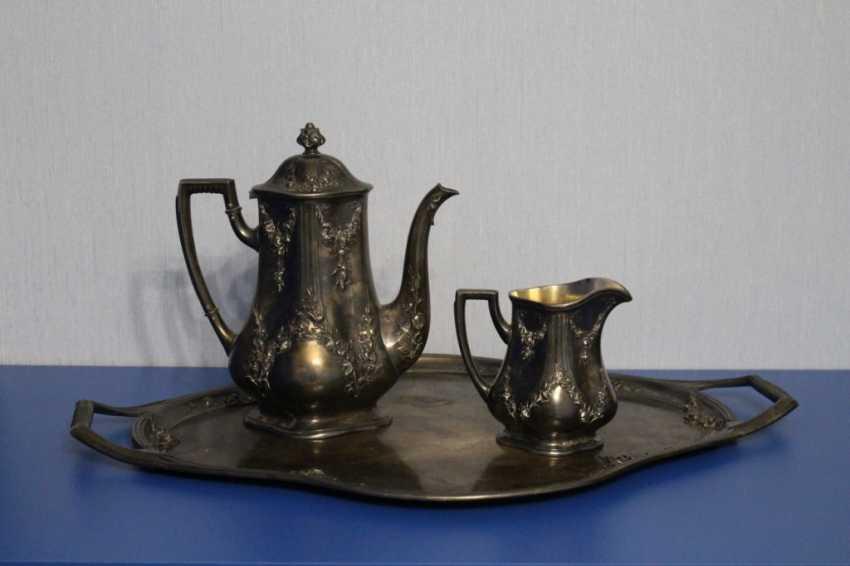 Tea set (teapot, milk jug, tray) Fraget (Traget) - photo 1