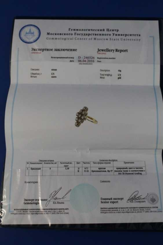 Set of jewelry (ring, earrings) (750) - photo 2