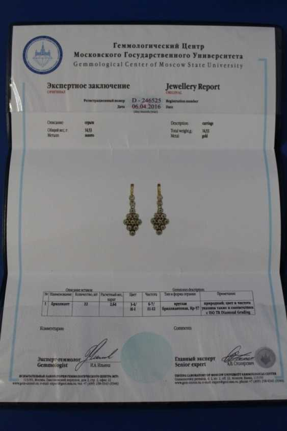 Set of jewelry (ring, earrings) (750) - photo 3