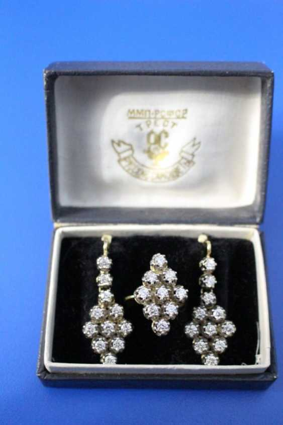 Set of jewelry (ring, earrings) (750) - photo 1