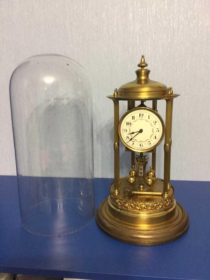 Clock Kieninger & Obergfell, 400 day/annual plant, Germany, 1930s - photo 6