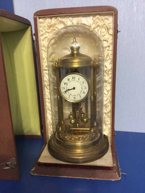 Clock Kieninger & Obergfell, 400 day/annual plant, Germany, 1930s - photo 1