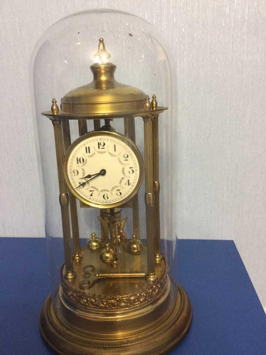 Clock Kieninger & Obergfell, 400 day/annual plant, Germany, 1930s - photo 3