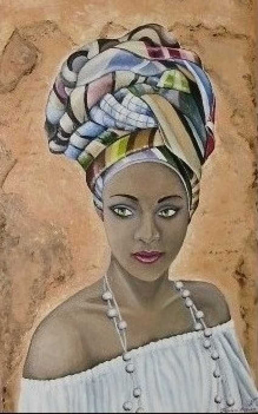 "Katarina Orlova. Portrait oil painting ""the Pearl of Africa"" - photo 1"