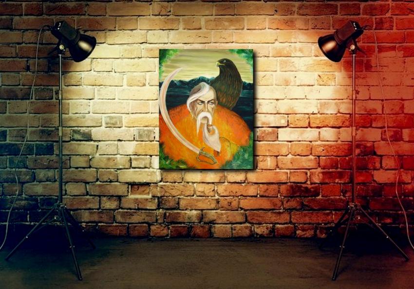 """Katarina Orlova. The painting """"We are the shadow, no one will hear"""" - photo 4"""