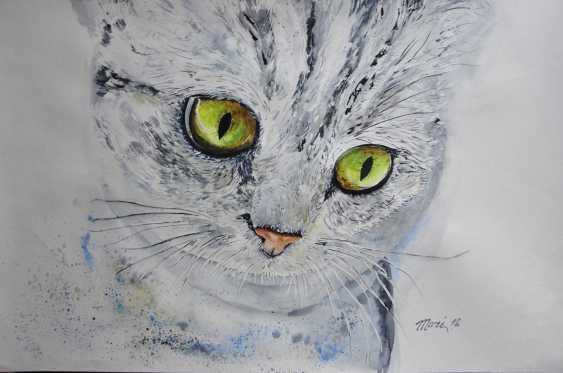 Maryna Pashchenko. Cat with green eyes. - photo 1