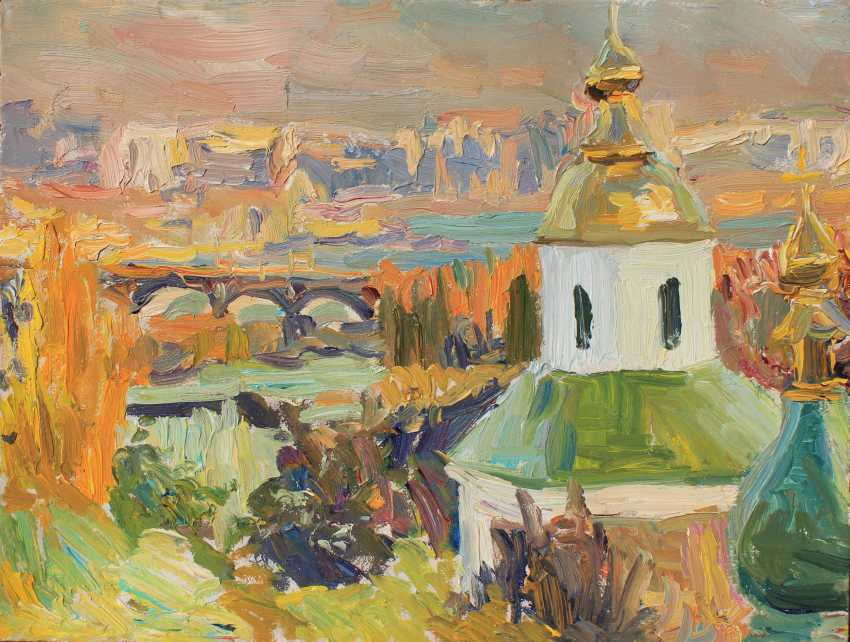 Illia Yarovyi. Vydubetsky monastery in autumn - photo 1