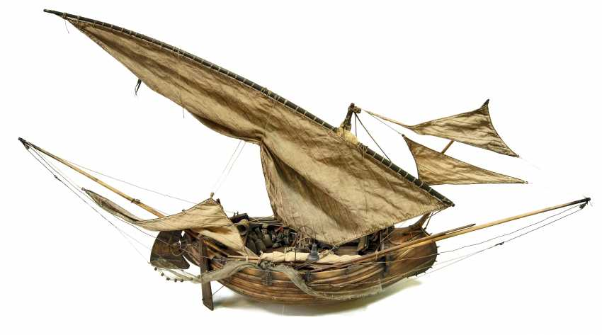 Vitaliy Anakhin. A model of the Portuguese muleta fishing boat. The model of Portuguese fishing boats muley. - photo 1