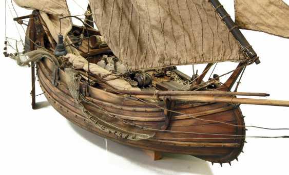 Vitaliy Anakhin. A model of the Portuguese muleta fishing boat. The model of Portuguese fishing boats muley. - photo 2