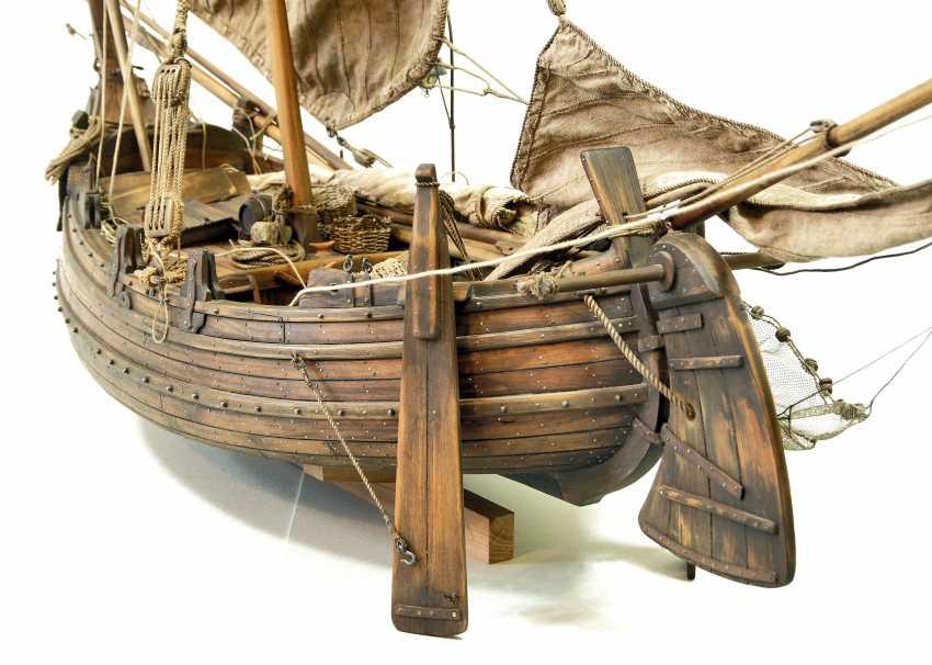 Vitaliy Anakhin. A model of the Portuguese muleta fishing boat. The model of Portuguese fishing boats muley. - photo 3
