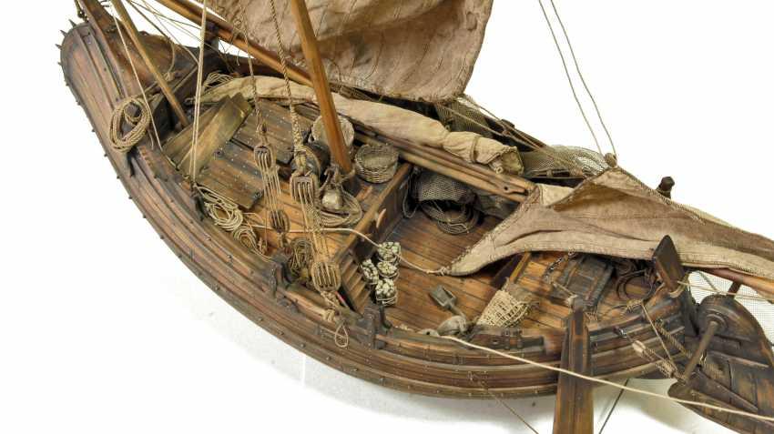 Vitaliy Anakhin. A model of the Portuguese muleta fishing boat. The model of Portuguese fishing boats muley. - photo 4