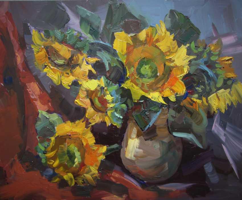 Lyudmila Saltan. Sunflowers - photo 1
