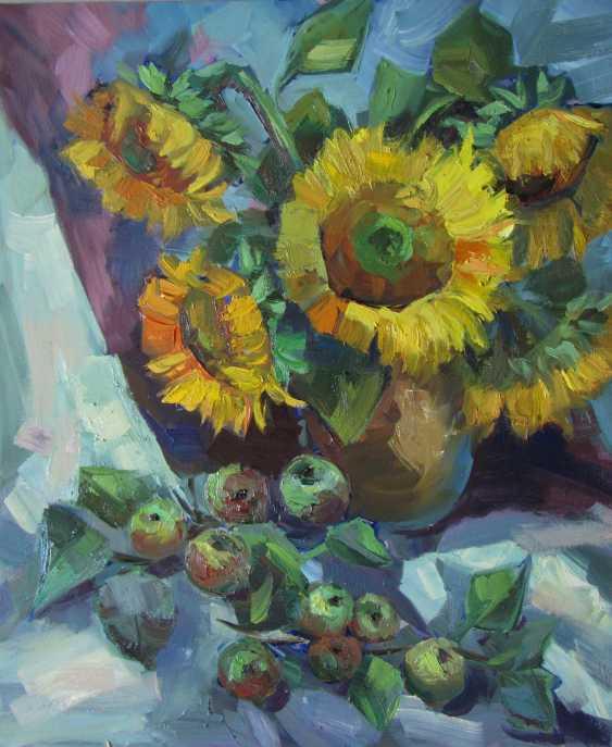 Lyudmila Saltan. Still life with sunflowers - photo 1