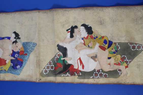 Scenes of the Kama Sutra (10 scenes) on papyrus - photo 2