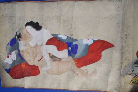 Scenes of the Kama Sutra (10 scenes) on papyrus - photo 3
