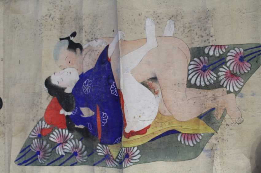 Scenes of the Kama Sutra (10 scenes) on papyrus - photo 7