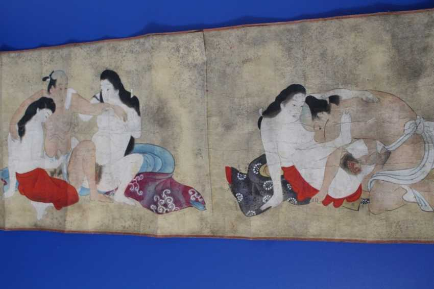 Scenes of the Kama Sutra (10 scenes) on papyrus - photo 1