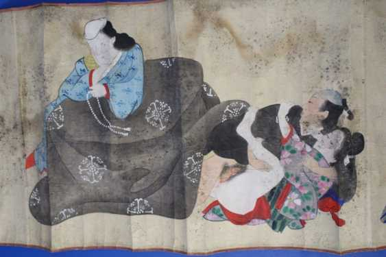 Scenes of the Kama Sutra (10 scenes) on papyrus - photo 9