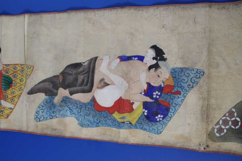 Scenes of the Kama Sutra (10 scenes) on papyrus - photo 5