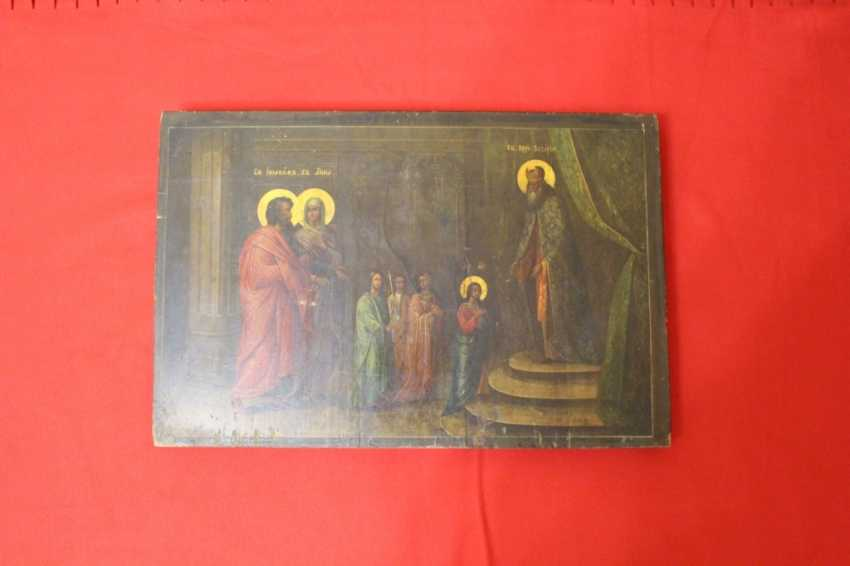 """Icon """"presentation in the temple of the virgin"""" - photo 2"""