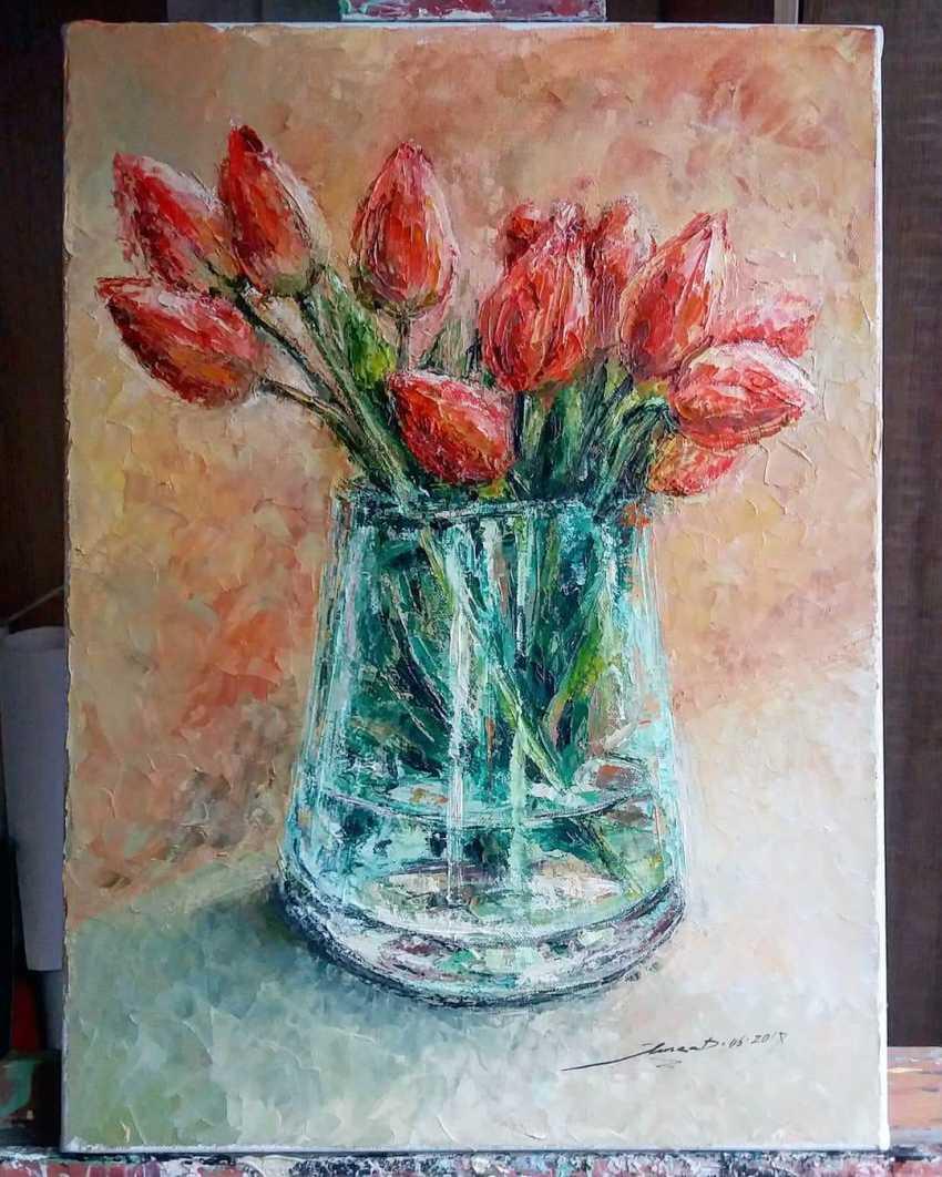 "Яна Дульгер. ""Тюльпаны"" - фото 1"