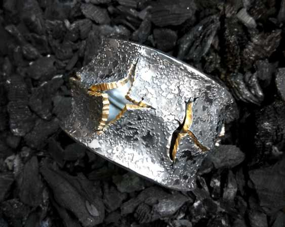 Roman Volkov. Silver bracelet with gold plating - photo 2