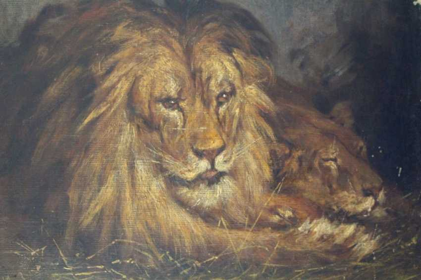 "The painting ""Lions"" 1903 - photo 1"