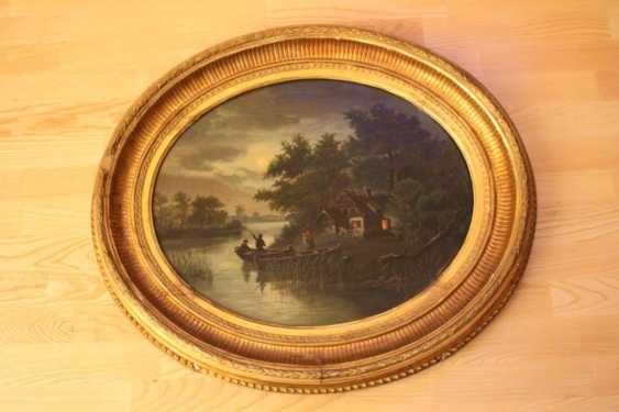"The painting ""On the river"", N.N. Bazhin 1896 - photo 1"
