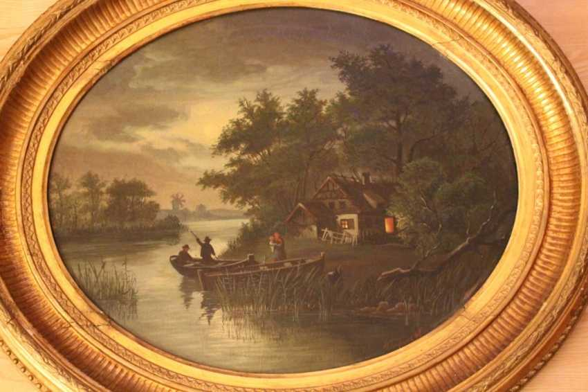 "The painting ""On the river"", N.N. Bazhin 1896 - photo 4"