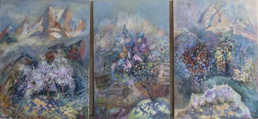"""Evgenia Erkenova. Triptych """"Spring in mountains"""" - photo 1"""