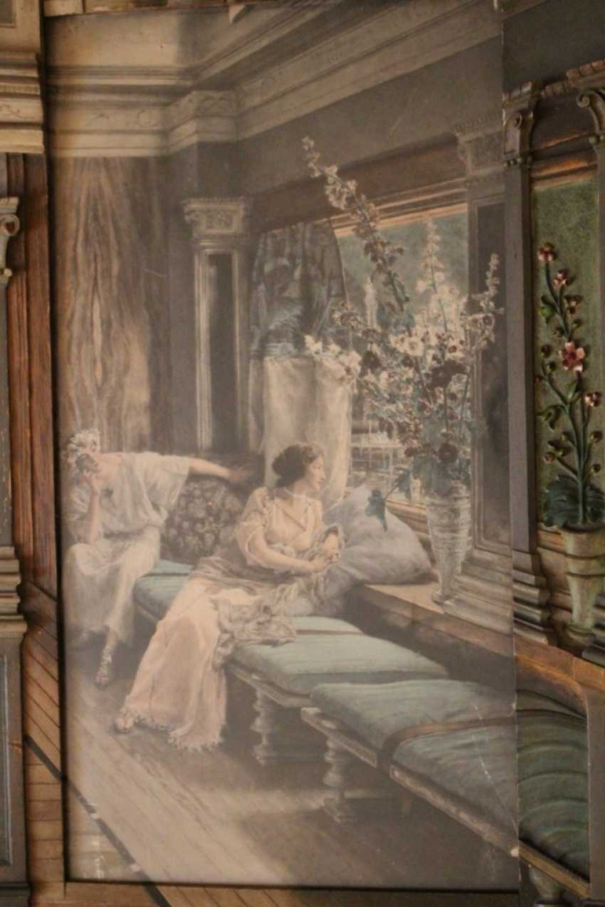 "The painting ""the window"", mid 19th century - photo 4"