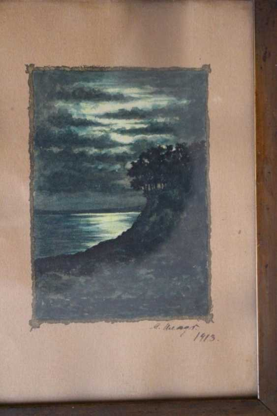 """The painting """"Mysterious night"""" by M. P. Klodt, 1913 - photo 2"""