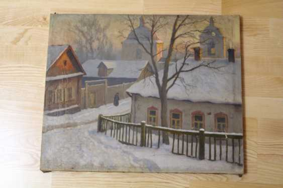 """The painting """"Moscow yard"""" Germashev (Bubelo) Michael Markianovich, 1900-1910 - photo 1"""