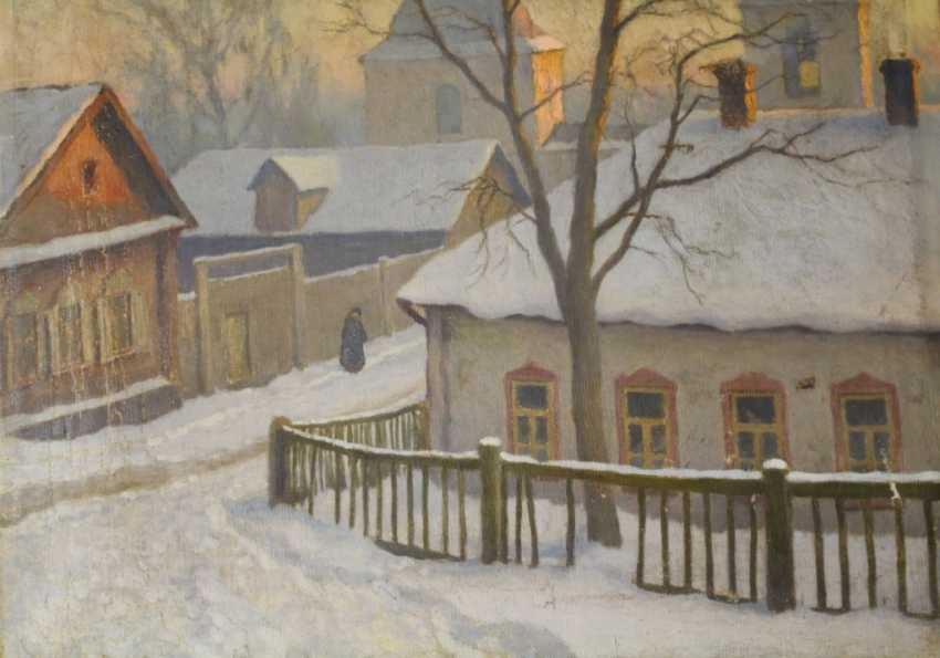 """The painting """"Moscow yard"""" Germashev (Bubelo) Michael Markianovich, 1900-1910 - photo 6"""