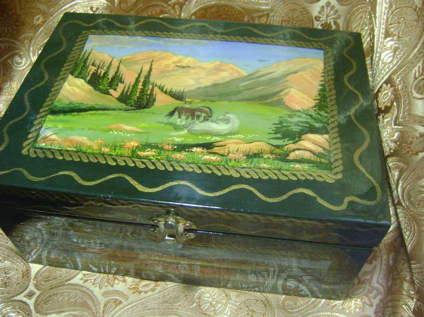 Lyudmila Kumaneva. Jewelry box with 5 compartments - photo 1