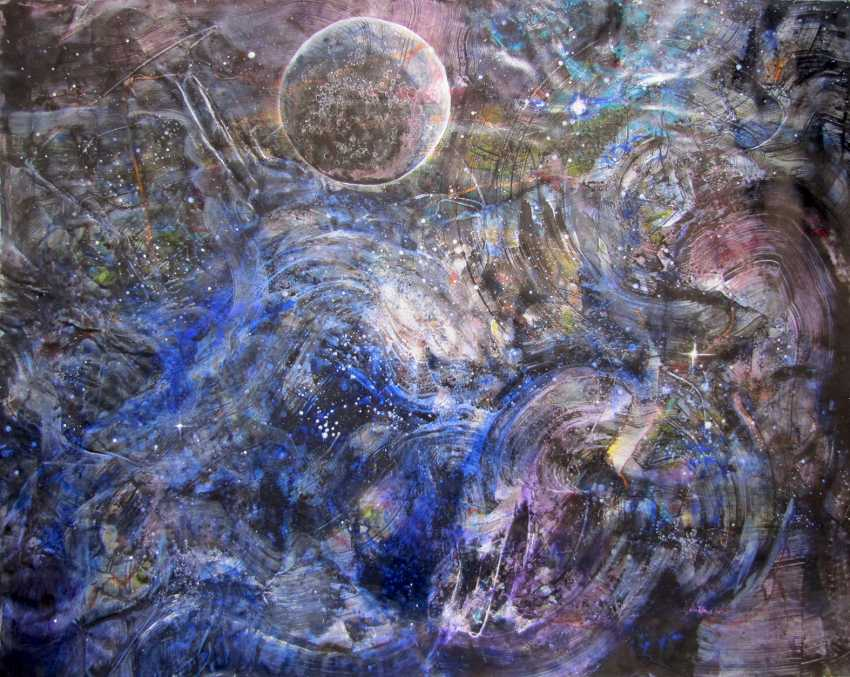 "Matkovsky Dmitri. One Planet Coalition, abstract painting, a Coalition of ""One planet"", the original abstraction - photo 1"