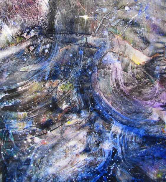 "Matkovsky Dmitri. One Planet Coalition, abstract painting, a Coalition of ""One planet"", the original abstraction - photo 2"